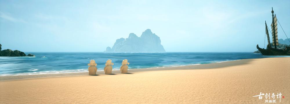 图003沙滩边上不知道是谁堆起的沙雕.jpg